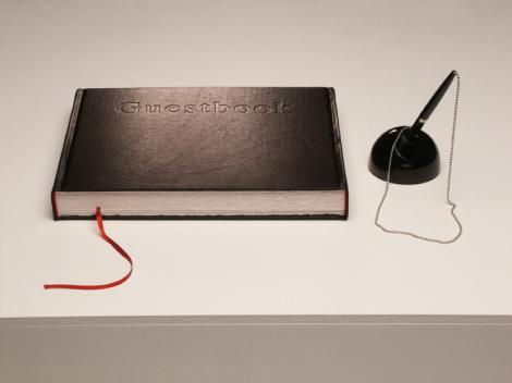 Guestbook, 2002, edition, leather and hand-made-paper, 23 x 29 x 3,3 cm