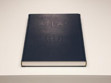 """ATLAS, 2002, edition, leather and paper, 37 x 28 x 3,5 cm"""""""